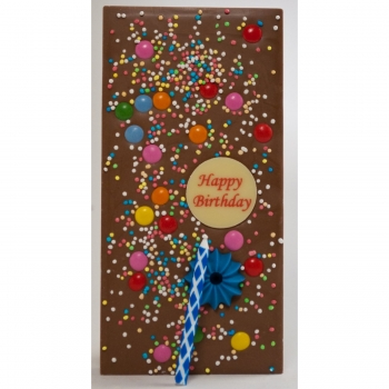 Happy Birthday - belgische Vollmilch Schokolade